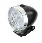 Lampka rowerowa przednia 3 LED baterie czarna
