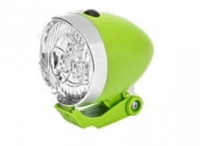 Lampka Retro przednia 3 LED zielona baterie