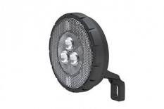 Lampka rowerowa przednia 3 LED czarna widelec