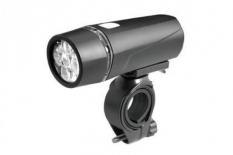 Lampka rowerowa przednia 5 LED baterie czarna