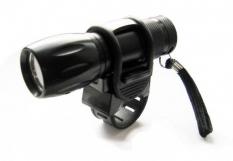 Lampka rowerowa przednia 9 LED baterie czarna