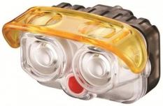 Lampka rowerowa przednia Akslen hl-70p + uchwyt na kask