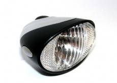 Lampka rowerowa przednia na dynamo, włącznik