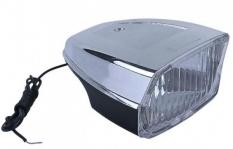 Lampka rowerowa przednia retro prostokąt na dynamo