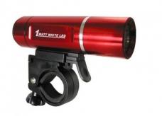 Lampka rowerowa przednia LED baterie czerwona