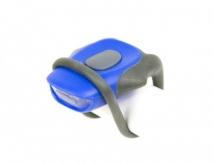 Lampka rowerowa przednia LED baterie niebieska