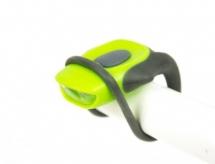 Lampka rowerowa przednia LED baterie zielona