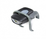 Lampka rowerowa tylna 2 LED mini baterie czarna