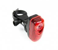 Lampka rowerowa tylna 3 LED baterie wspornik