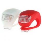 Zestaw lampek rowerowych frog Spencer biała/czerwona
