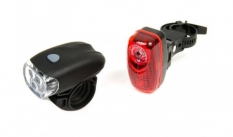 Lampki rowerowe 3 led + 3 led 0,5 watt, jy-566+ jy-6001t