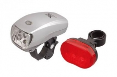 Lampki rowerowe 5 led, xc761 + xc305