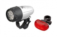 Lampki rowerowe latarka 5 LED baterie