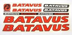 Naklejka batavus czerwony 5 szt. = kpl