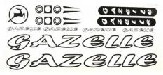Naklejka Gazelle biała 5 szt.= kpl