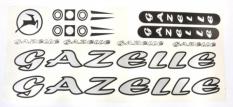 Naklejka Gazelle srebrna 5 szt. = kpl.