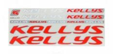 Naklejka Kellys czerwono-srebrna 5 szt= kpl