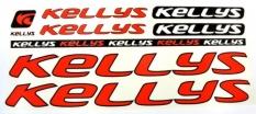 Naklejka Kellys czerwona 5 szt.= kpl