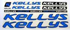 Naklejka Kellys niebieska 5 szt.= kpl