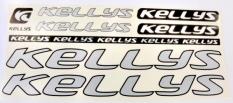 Naklejka Kellys srebrna 5 szt.= kpl