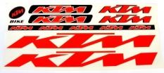 Naklejka KTM czerwona 5 szt= kpl