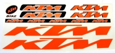Naklejka KTM pomarańczowa 5 szt= kpl