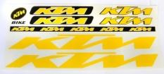 Naklejka KTM zółta 5 szt.= kpl