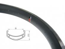 """Obręcz rowerowa 20"""" BMX 21,5mm 36H czarna"""