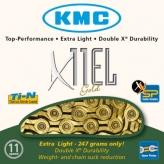 Łańcuch rowerowy kmcx11 el ti-nx złoty