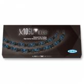 Łańcuch rowerowy kmc x10 Stronglight dlc czarno/niebieski