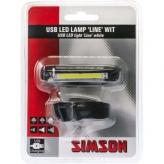 Lampka rowerowa przednia Simson Line USB
