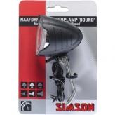 Lampka rowerowa przednia Simson Round dynamo czarna