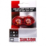 Lampka rowerowa tylna Simson Eyes USB