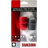 Zestaw lampek rowerowych Simson Simmy baterie