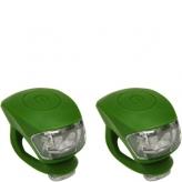 Zestaw lampek rowerowych Urban Proof zielony