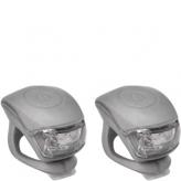 Zestaw lampek rowerowych Urban Proof  srebrny