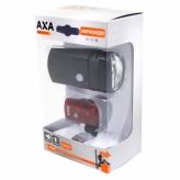 Zestaw lampek rowerowych Axa Greenline 50 lux USB