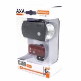 Zestaw lampek rowerowych Axa Greenline 35 lux USB