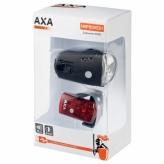 Zestaw lampek rowerowych Axa Greenline USB