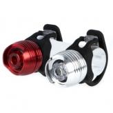Zestaw lampek rowerowych IKZI Metal Dazzle Twin alu