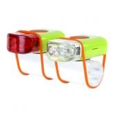 Zestaw lampek rowerowych IKZI Mini Stripties zielony