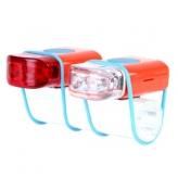 Zestaw lampek rowerowych IKZI Mini Stripties czerwony