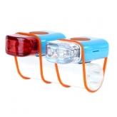 Zestaw lampek rowerowych IKZI Mini Stripties niebieski