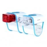 Zestaw lampek rowerowych IKZI Mini Stripties biały