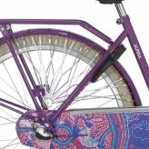 Osłona rowerowa na tylne koło Alpina Tingle szara - czarna