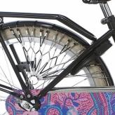 Osłona rowerowa na tylne koło Alpina Tingle szara - biała