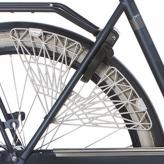 """Osłona rowerowa na tylne koło 28"""" Cortina Trenza szara"""