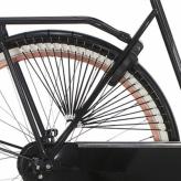 """Osłona rowerowa na tylne koło 28"""" Cortina Trenza czarna"""