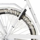 """Osłona rowerowa na tylne koło 28"""" Cortina Milo biała"""