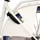 Osłona rowerowa na tylne koło Hesling Manta biała